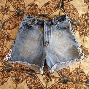 Versace High waisted shorts - Medusa